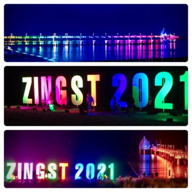 Blogeintrag zu ZINGST 2021. Wir wünschen allen ein gesundes und fröhliches Jahr.